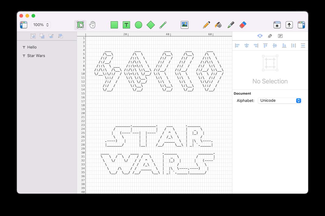 Mac软件-强大的ASCII艺术编辑器软件Monodraw 1.1.1 MacOSX注册版 免费下载