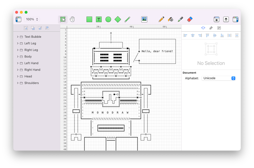 Monodraw for macos helftone powerful ascii art editor designed for the mac ccuart Choice Image